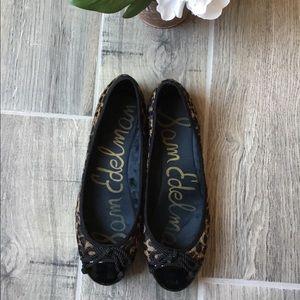 SAM EDELMAN Real Fur Ballet Flats